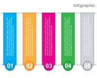 Modello di progettazione di Infographic con le etichette di carta Immagini Stock Libere da Diritti