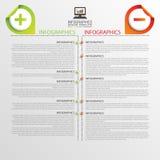 Modello di progettazione di Infographic Concetto di affari Cronologia Illustrazione di vettore Fotografia Stock Libera da Diritti