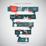Modello di progettazione di Infographic di cronologia Illustrazione di vettore Immagini Stock