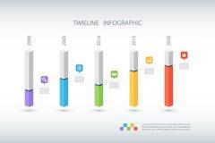 Modello di progettazione di Infographic di cronologia Illustrazione di vettore Fotografie Stock Libere da Diritti