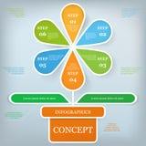 Modello di progettazione di Infographic e concetto di affari Immagine Stock