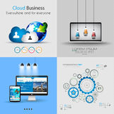 Modello di progettazione di Infographic Ideale per visualizzare informazioni illustrazione vettoriale