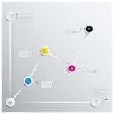 Modello di progettazione di Infographics di affari Immagini Stock Libere da Diritti