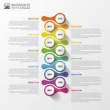 Modello di progettazione di Infographics di cronologia Concetto di affari Illustrazione di vettore Immagini Stock Libere da Diritti