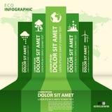 Modello di progettazione di infographics di Eco Backround di vettore Fotografia Stock Libera da Diritti