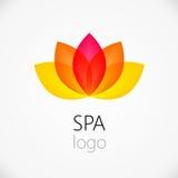 Modello di progettazione di logo dell'estratto del fiore di Lotus illustrazione di stock