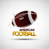 Modello di progettazione di logo della palla di football americano Fotografia Stock Libera da Diritti
