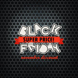 Modello di progettazione di logo di vendita di Black Friday Immagini Stock