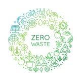 Modello di progettazione di logo di vettore - concetto residuo zero Fotografia Stock Libera da Diritti