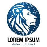 Modello di progettazione di logo di vettore del leone Leo o animali Immagini Stock