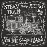 Modello di progettazione di logo di vettore del treno a vapore Fotografia Stock