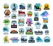 Modello di progettazione di logo di vettore dell'automobile trasporto o illustrazione di stock