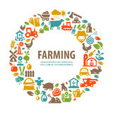 Modello di progettazione di logo di vettore dell'azienda agricola agricoltura, raccolto Fotografia Stock