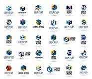 Modello di progettazione di logo di vettore della società affare o Fotografie Stock