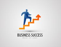 Modello di progettazione di logo di vettore di affari successo o Fotografia Stock Libera da Diritti