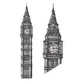 Modello di progettazione di logo di vettore di Big Ben L'Inghilterra o Fotografia Stock Libera da Diritti