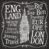 Modello di progettazione di logo di vettore di Big Ben Londra, Regno Unito o Fotografia Stock