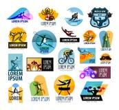Modello di progettazione di logo di vettore di forma fisica sport o illustrazione vettoriale