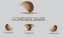Modello di progettazione di logo di vettore Goccia di acqua astratta, forma di onda Immagine Stock Libera da Diritti