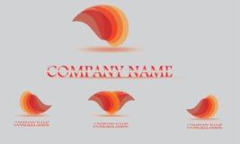 Modello di progettazione di logo di vettore Goccia di acqua astratta, forma di onda Fotografia Stock