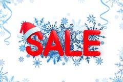 Modello di progettazione di vendita di Natale su fondo bianco Immagini Stock