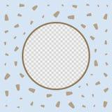 Modello di progettazione di vettore della copertura del menu del gelato del ristorante Fotografie Stock Libere da Diritti