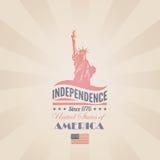 Modello di progettazione di vettore di festa dell'indipendenza di U.S.A. Liber illustrazione di stock