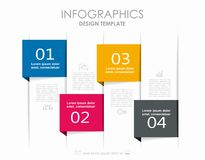 Modello di progettazione di Infographic con il posto per i vostri dati Illustrazione di vettore Fotografie Stock Libere da Diritti