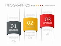 Modello di progettazione di Infographic con il posto per i vostri dati Illustrazione di vettore Fotografia Stock Libera da Diritti