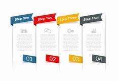 Modello di progettazione di Infographic con il posto per i vostri dati Illustrazione di vettore Immagine Stock Libera da Diritti