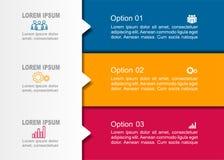 Modello di progettazione di Infographic con il posto per i vostri dati Illustrazione di vettore Immagini Stock