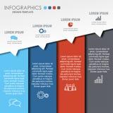 Modello di progettazione di Infographic con il posto per i vostri dati Illustrazione di vettore Fotografia Stock