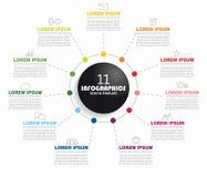 Modello di progettazione di Infographic con il posto per i vostri dati Illustrazione di vettore royalty illustrazione gratis