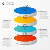 Modello di progettazione di Infographic Concetto di affari con 4 opzioni Fotografia Stock Libera da Diritti