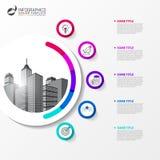 Modello di progettazione di Infographic Concetto creativo con 5 punti Fotografia Stock