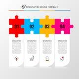 Modello di progettazione di Infographic Concetto creativo con 4 punti Fotografia Stock Libera da Diritti
