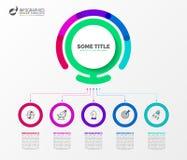 Modello di progettazione di Infographic Concetto creativo con 5 punti royalty illustrazione gratis
