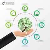 Modello di progettazione di Infographic Concetto creativo con 7 punti royalty illustrazione gratis