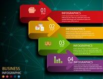 Modello di progettazione di Infographic e concetto di affari con 4 opzioni illustrazione di stock