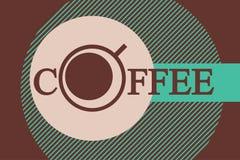 Modello di progettazione di logo della tazza da caffè Immagine Stock Libera da Diritti