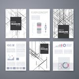 Modello di progettazione messo per il web, posta, opuscoli Fotografia Stock