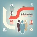 Modello di progettazione moderna con gli uomini di affari Fotografia Stock Libera da Diritti