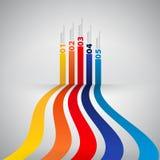 Modello di progettazione moderna con le insegne numerate - può essere usato per la i Fotografia Stock