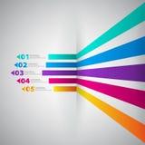 Modello di progettazione moderna con le insegne numerate - può essere usato per la i Immagine Stock