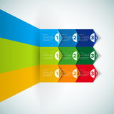 Modello di progettazione moderna con le insegne numerate - può essere usato per la i Fotografia Stock Libera da Diritti