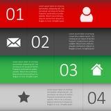 Modello di progettazione moderna per il sito Web di Infographic Immagine Stock