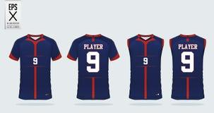 Modello di progettazione di sport della maglietta per il jersey di calcio, il corredo di calcio e la canottiera sportiva per il j illustrazione vettoriale