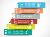 Modello di progresso di opzioni di numero di Infographic Fotografia Stock Libera da Diritti
