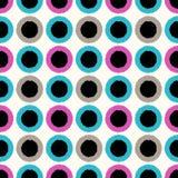 Modello di punti astratto senza cuciture del cerchio Fotografie Stock