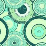 Modello di punti senza cuciture del cerchio di autunno giapponese Immagine Stock